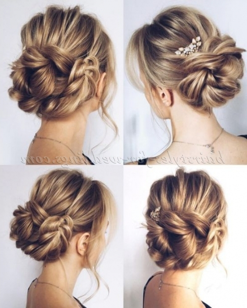Low Bun Wedding Hairstyles – Braided Chignon Wedding Within Most Recent Braided Chignon Hairstyles (View 4 of 25)
