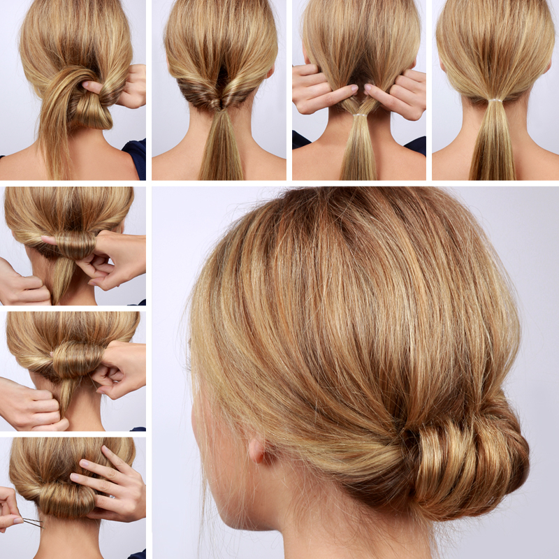 Lulus How To: Low Rolled Updo Hair Tutorial – Lulus Intended For Tie It Up Updo Hairstyles (View 6 of 25)