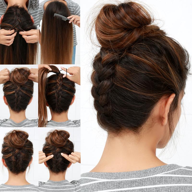 Lulus How To: Reverse Braided Bun Hair Tutorial – Lulus With Regard To Reverse French Braid Bun Updo Hairstyles (View 24 of 25)