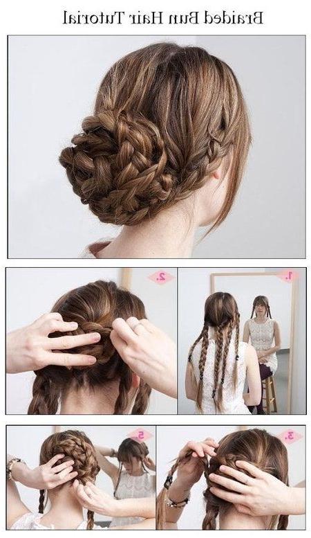 Messy Braided Bun – #hairbraid #hairbun #hairtutorial Within Multi Braid Updo Hairstyles (View 22 of 25)