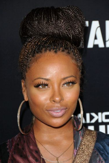 Micro Braids Hairstyles: 7 Celebrity Looks You Have To See In Most Recently Micro Braided Hairstyles (View 19 of 25)