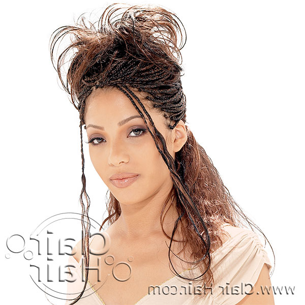 Micro Braids Intended For Most Popular Loose Spiral Braided Hairstyles (View 25 of 25)