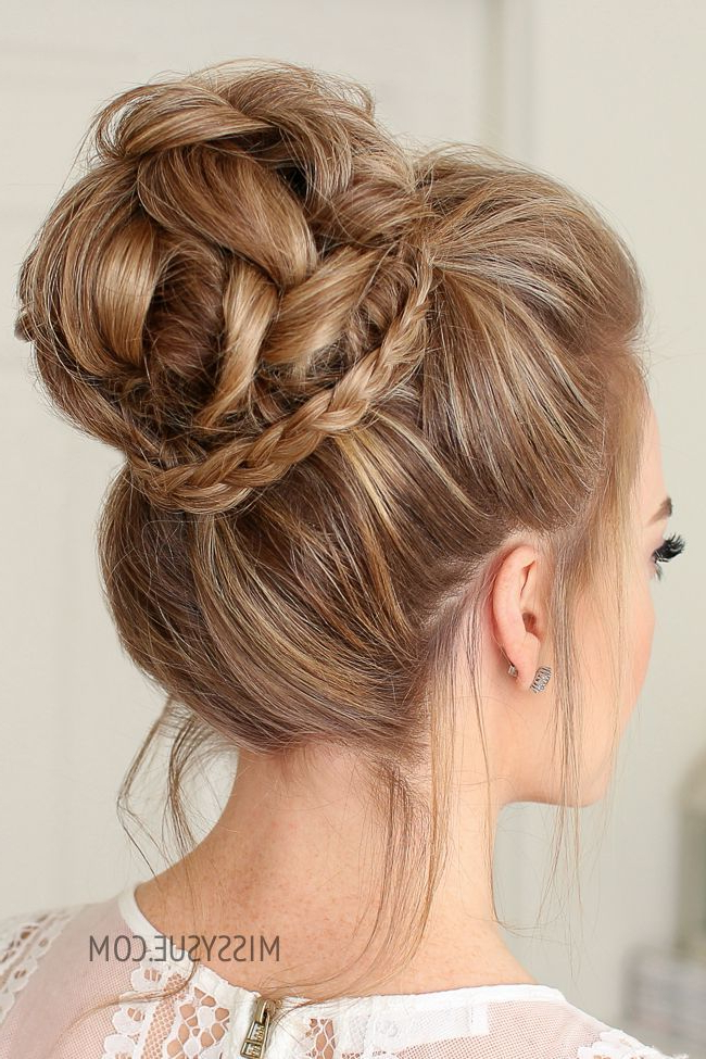 Mini Braid Wrapped High Bun | Hair Style | Hair Styles, Long With Mini Braided Buns Updo Hairstyles (View 2 of 25)