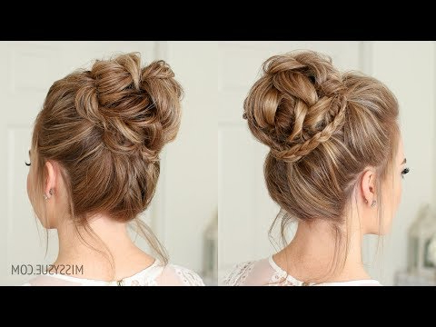Mini Braid Wrapped High Bun | Missy Sue – Youtube Throughout Mini Braided Buns Updo Hairstyles (View 16 of 25)