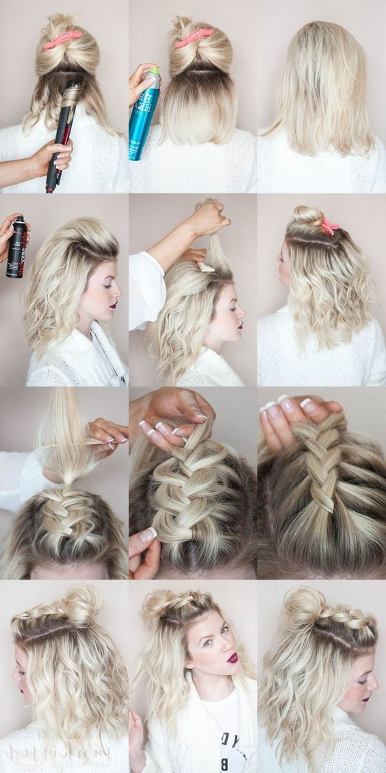 Mohawk Braid Top Knot | Makeup Mania Within Most Recently Braided Top Knot Hairstyles (View 9 of 25)