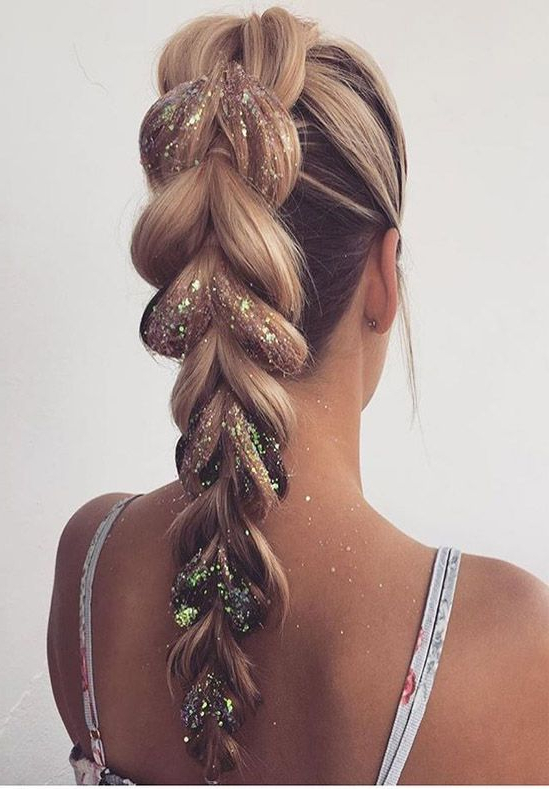 Most Beautiful Prom Hairstyles For Long Hair For Blinged Out Bun Updo Hairstyles (View 5 of 25)