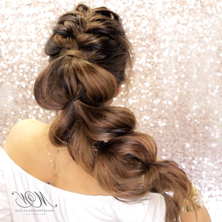 Most Romantic Mohawk Braid Ever! | Hair Style Tutorial For Pull Through Ponytail Updo Hairstyles (View 14 of 25)