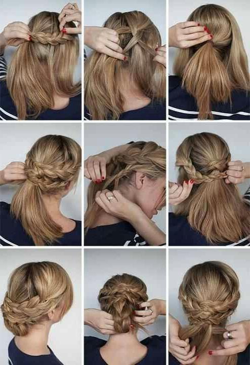Multi Braided Updo | My Style | Hair Styles, Hair Romance Within Multi Braid Updo Hairstyles (View 4 of 25)