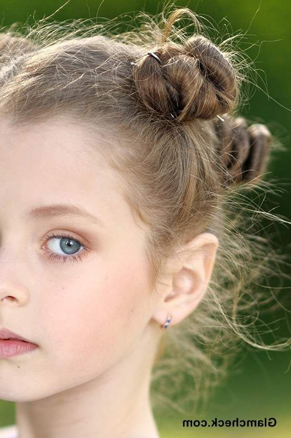 Multiple Mini Buns Hairstyles For Little Girls | Kids In Mini Buns Hairstyles (View 6 of 25)