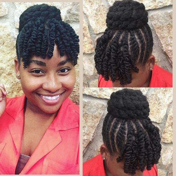 Natural Hair | Natural Hair In 2019 | Textured Hair, Natural Pertaining To Natural Bangs Updo Hairstyles (View 6 of 25)