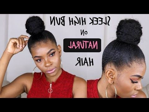 Natural Hair| Sleek Low Ponytail On 4C Hair W/ Extensions Intended For Natural High Ponytail Updo Hairstyles (View 3 of 25)