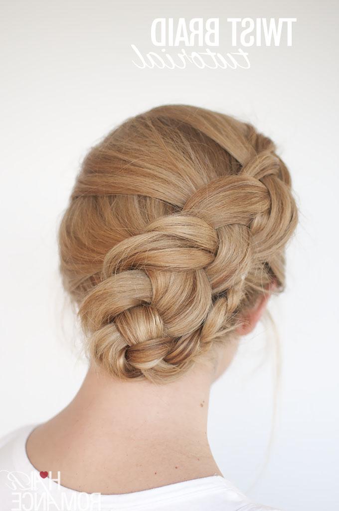New Braid Hairstyle Tutorial – The Twist Braid Updo – Hair Throughout Dutch Braid Bun Hairstyles (View 22 of 25)
