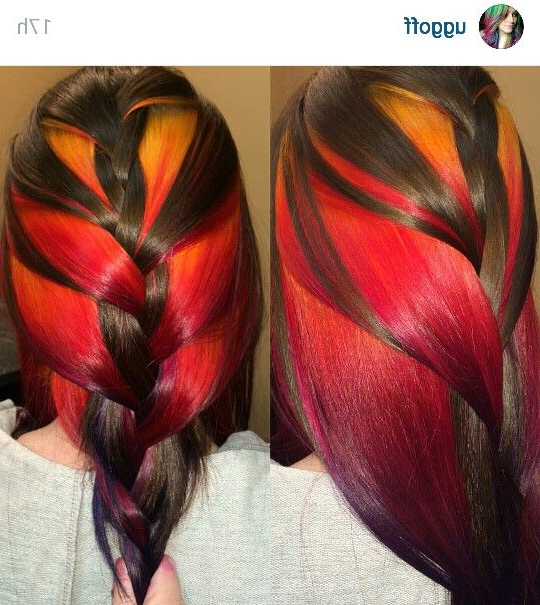 Peek A Boo Sunset Braided | Lovely Locks (Hair) | Sunset For Recent Peek A Boo Braided Hairstyles (View 14 of 25)