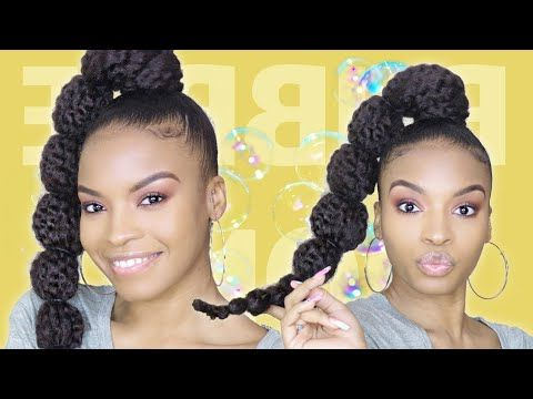 Featured Photo of Natural Bubble Ponytail Updo Hairstyles