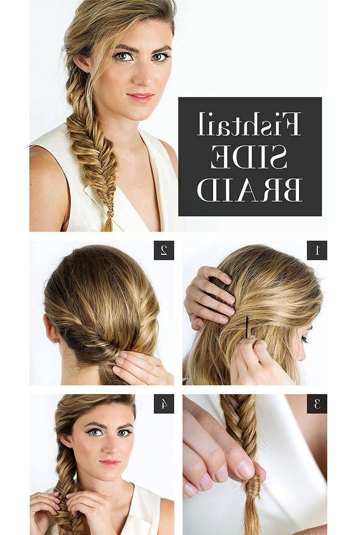 Perfect Summer Braids: French Fishtail Side Braided Within Best And Newest Fishtail Side Braided Hairstyles (View 24 of 25)