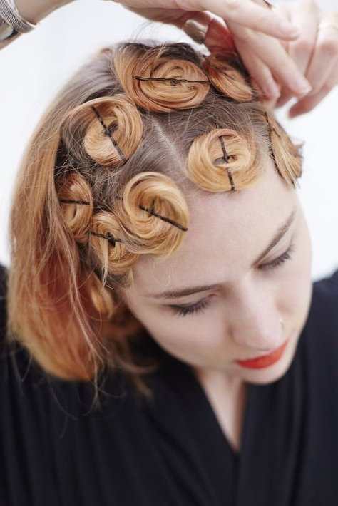 Pin Curl Short Hair Tutorial And Styling Ideas with regard to Pinned Curls Hairstyles