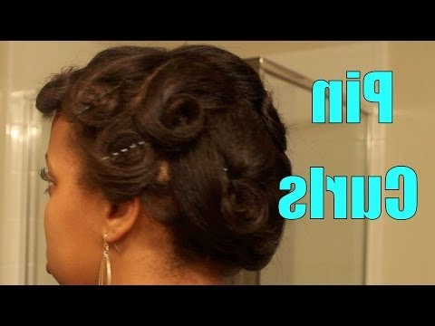 Pin Curls On Flat Ironed Hair Regarding Pinned Curls Hairstyles (View 20 of 25)