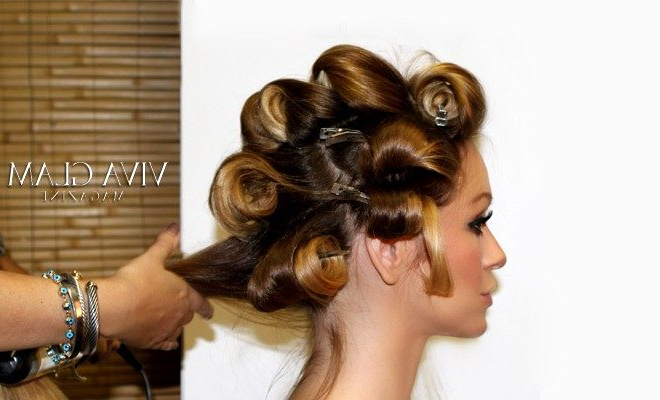 Pin Curls With Curling Iron – Viva Glam Magazine™ For Pinned Curls Hairstyles (View 8 of 25)