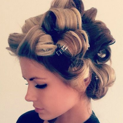 Pin Curls! (You Curl The Hair With Any Size Curling Iron, A With Regard To Pinned Curls Hairstyles (View 11 of 25)