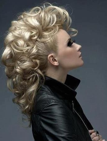 Pin On Beauty Tips! intended for Curly Mohawk Updo Hairstyles