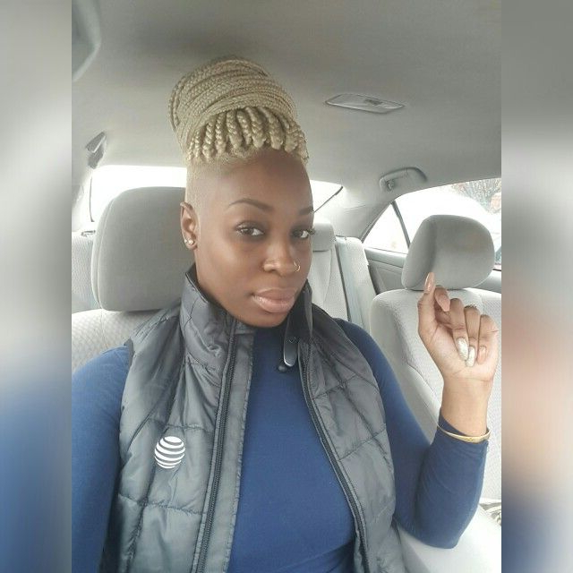 Pin On Black Girl Blonde With Most Popular Shaved Platinum Hairstyles With Micro Braids (View 17 of 25)