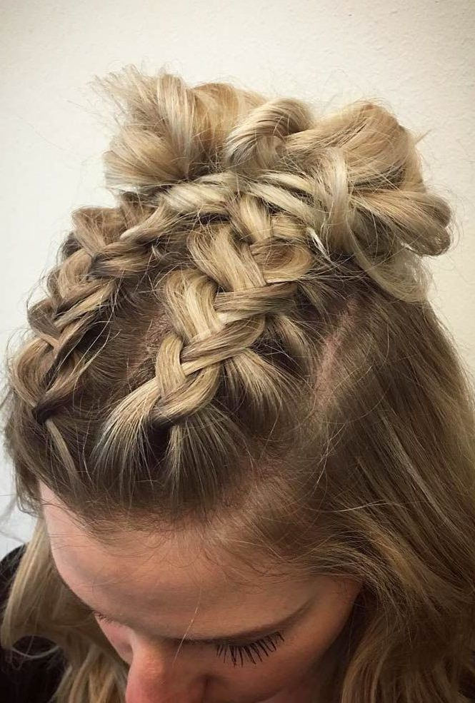 Pin On Hair Styles For Most Recently Three Strand Pigtails Braided Hairstyles (View 3 of 25)