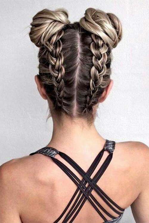 Pin On Hairstyles Bitchhhhh intended for Reverse French Braid Bun Updo Hairstyles