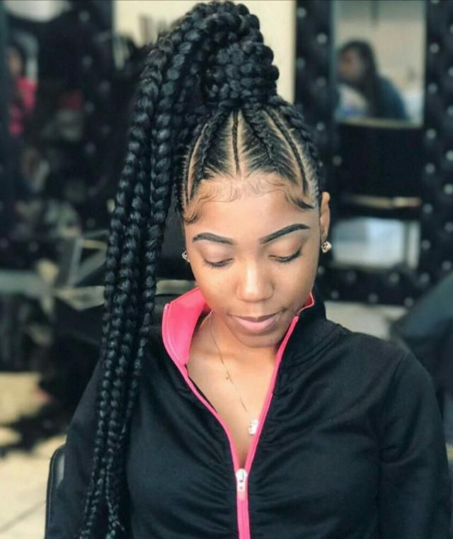 Pin On Kids Braids Pertaining To Current High Ponytail Braided Hairstyles (View 10 of 25)