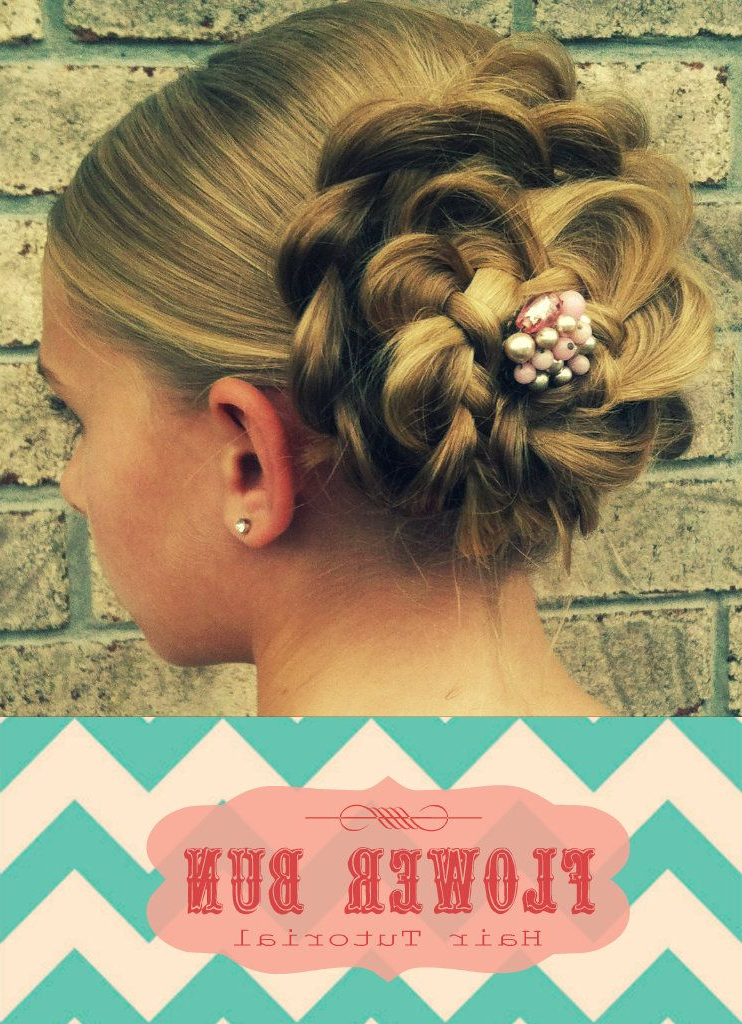 Pin On Love It! With Regard To Floral Bun Updo Hairstyles (View 4 of 25)