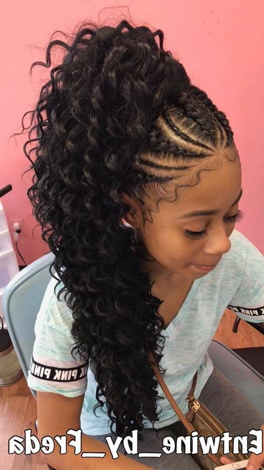 Pin On Weave,wig,cornrows,hair Cuts And Hair Style Ideas for Best and Newest Billowing Ponytail Braided Hairstyles
