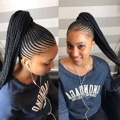 Pinendira Goodman On Protective Styles | Braids For With Cornrow Braids Hairstyles With Ponytail (View 3 of 25)