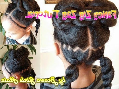 Ponytails/ Tutorial/natural Hair/ Styles For Little Girls With Zig Zag Ponytail Updo Hairstyles (View 5 of 25)