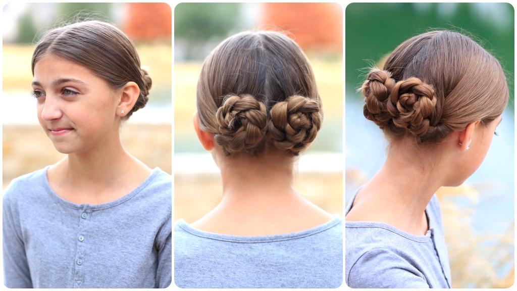 Prim's Braided Bun Updo   Mockingjay Hairstyles   Cute Girls in Recent Cinnamon Bun Braided Hairstyles