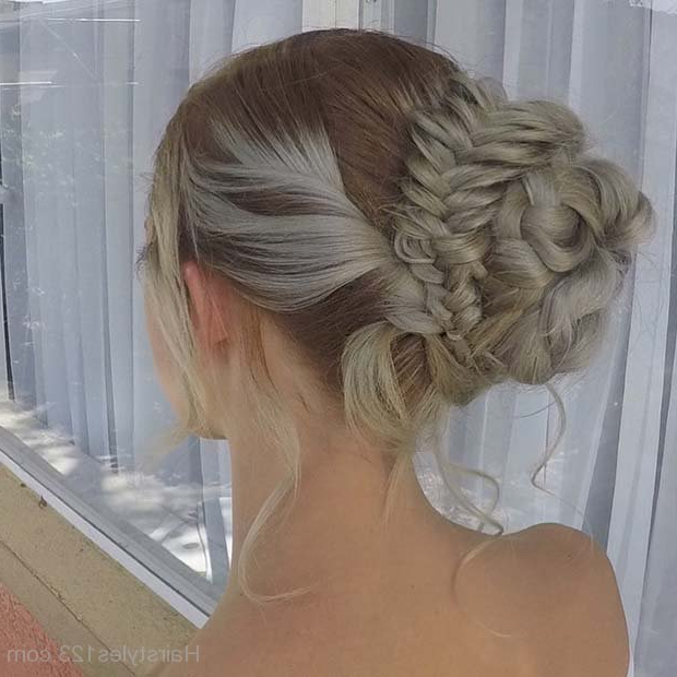 Prom Updo Hairstyles Within Multi Braid Updo Hairstyles (View 15 of 25)