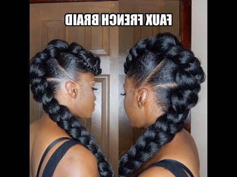 *protective Style* Faux French Braid Updo With Twisted Faux Hawk Updo Hairstyles (View 10 of 25)