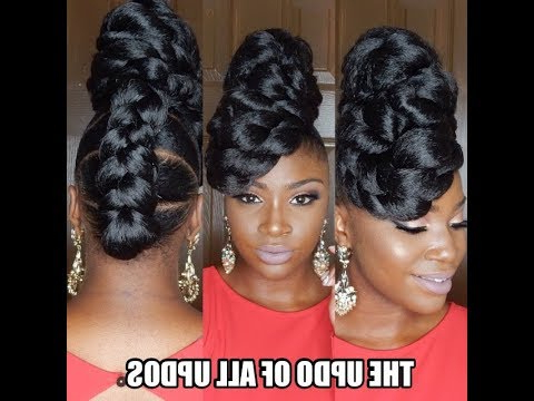 *protective Style* The Updo Of All Updos!! | Fortheloveofupdos With Regard To Twisted Faux Hawk Updo Hairstyles (View 9 of 25)