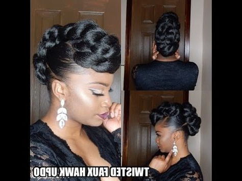 Featured Photo of Twisted Faux Hawk Updo Hairstyles