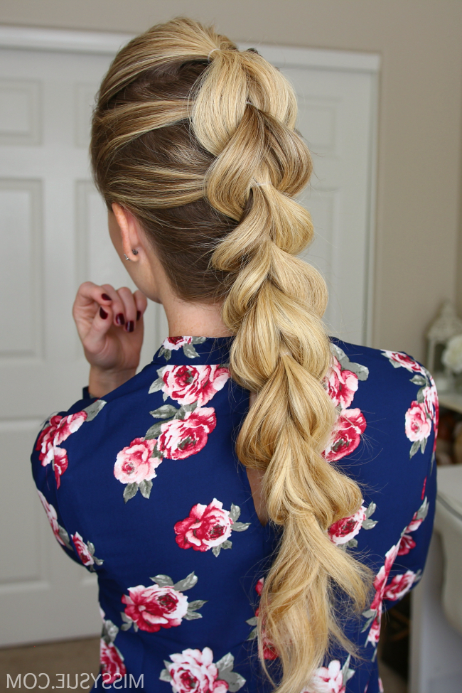 Pull Through Braid | Missy Sue with Pull-Through Ponytail Updo Hairstyles