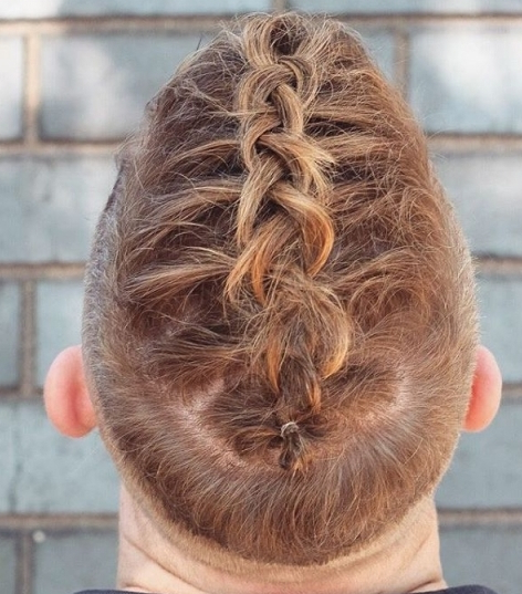 Reverse Braid Undercut Mohawk Hairstyle Zig Zag Braids For Within Zig Zag Ponytail Updo Hairstyles (View 14 of 25)