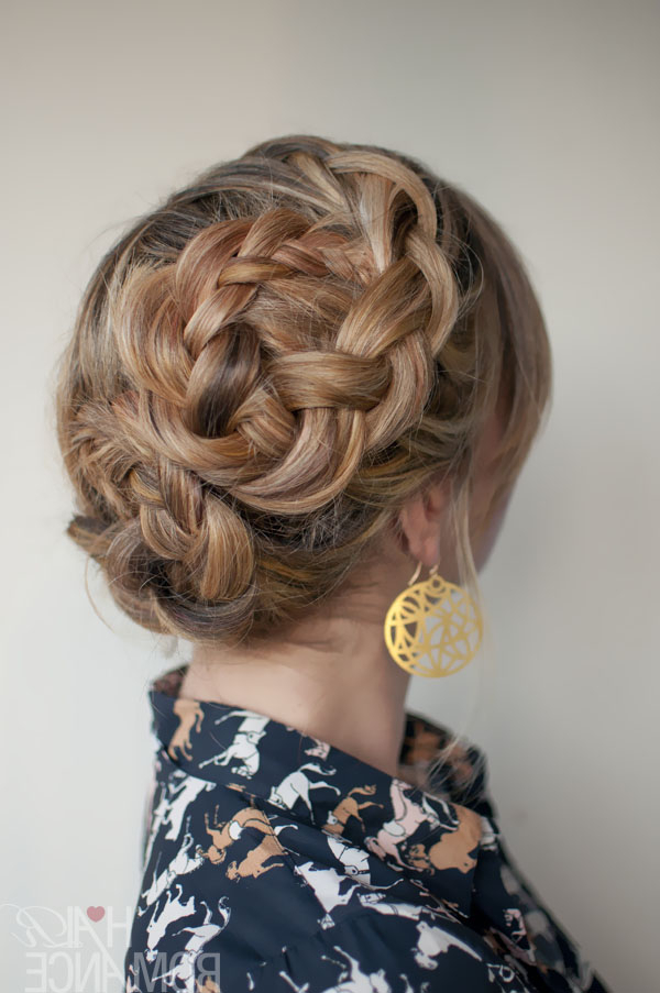 Romantic Asymmetrical Double Dutch Braids Updo – Hairstyles Throughout Newest Asymmetrical French Braided Hairstyles (View 12 of 25)