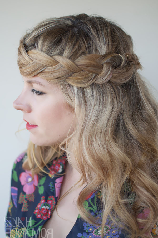 Romantic Crown Braid For Long Hair – Perfect Braid Crown Pertaining To Most Up To Date Side Swept Carousel Braided Hairstyles (View 13 of 25)
