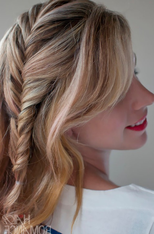 Romantic French Fishtail Side Braid – Hairstyles Weekly With Most Up To Date Fishtail Side Braided Hairstyles (View 16 of 25)