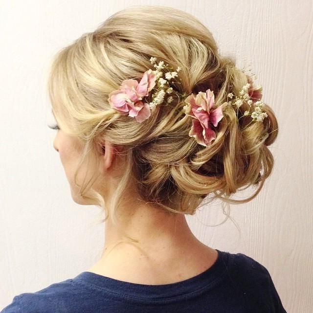 Featured Photo of Romantic Florals Updo Hairstyles