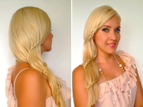 Romantic Prom Wedding Hairstyles For Long Hair Side Swept Intended For Most Recently Side Swept Carousel Braided Hairstyles (View 5 of 25)