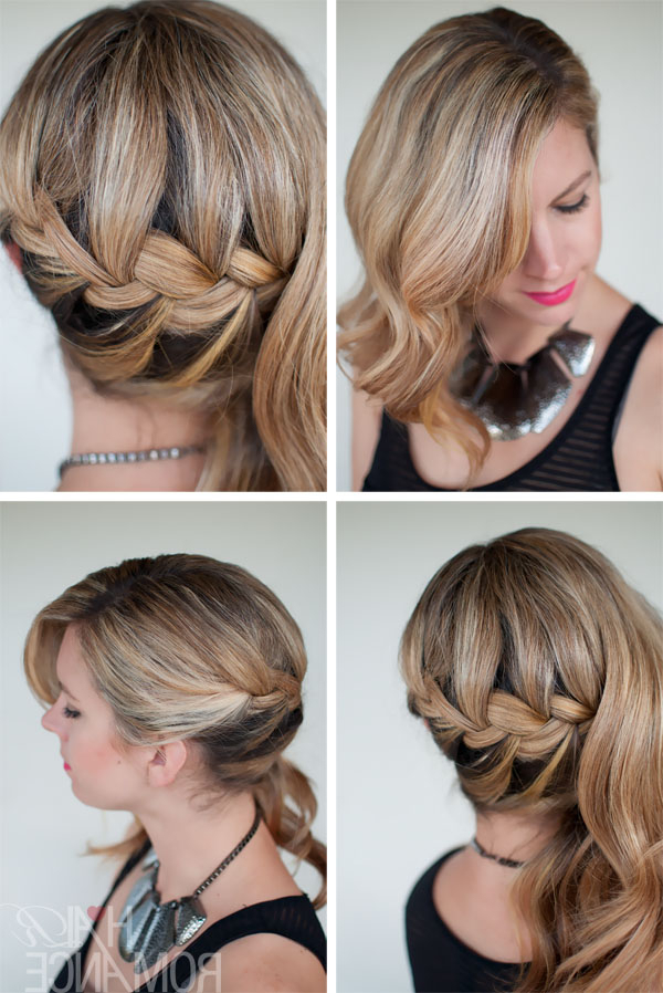 Romantic Side Swept French Braid – Holiday Hair Inspirations With Regard To Side Swept Braid Updo Hairstyles (View 25 of 25)
