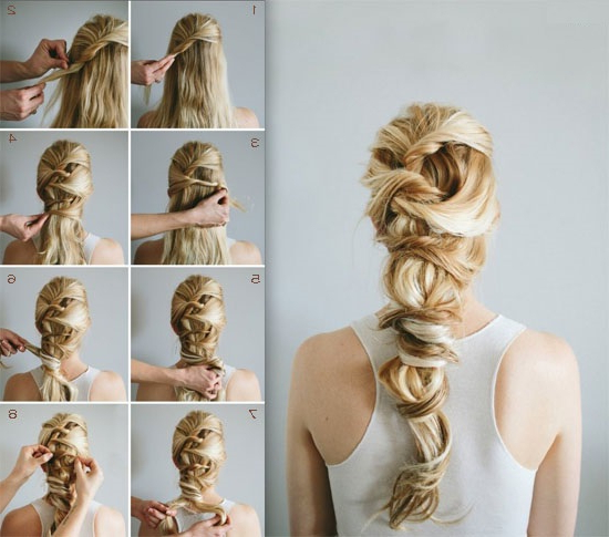 Romantic Twisted Braids Ponytail Hairstyle For Weddings Intended For Romantic Ponytail Updo Hairstyles (View 7 of 25)