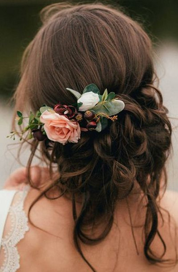 Romantic Updo Wedding Hairstyle With Florals – Oh Best Day Ever Intended For Romantic Florals Updo Hairstyles (View 6 of 26)