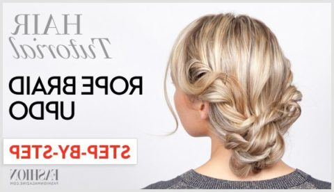 Rope Braid Tutorial: Learn How To Do This Twisted Updo In 4 Inside Twisted Rope Braid Updo Hairstyles (View 13 of 25)