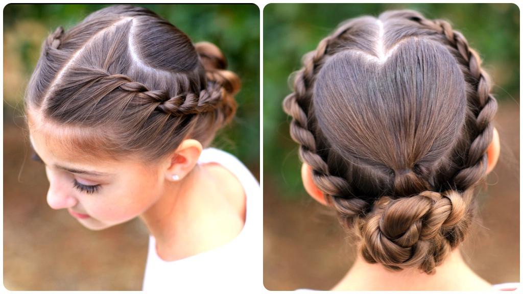 Rope Braided Heart | Valentine's Day Hairstyles | Cute Girls Within Twisted Rope Braid Updo Hairstyles (View 14 of 25)