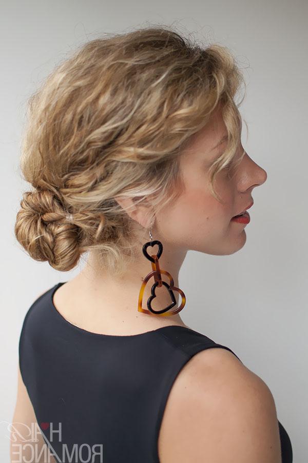 Rope Twist Bun Hairstyle Tutorial In Curly Hair – Hair Romance Regarding Twisted Rope Braid Updo Hairstyles (View 15 of 25)